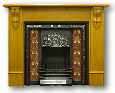 The Daisy Fireplace Insert - Late Victorian Cast Iron Fireplace Inserts From Victorian