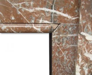 Victorian Rouge Marble Mantel detail