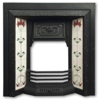Edwardian Cast Iron Fireplace Insert
