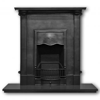 The Abingdon Cast Iron Combination Fireplace Black