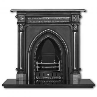 The Gothic Cast Iron Combination Fireplace ( Highlight )