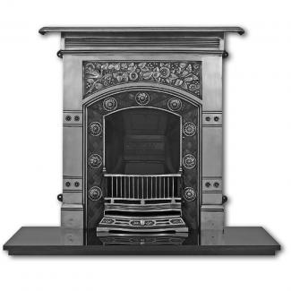 The Jekyll Cast Iron Combination Fireplace full polished