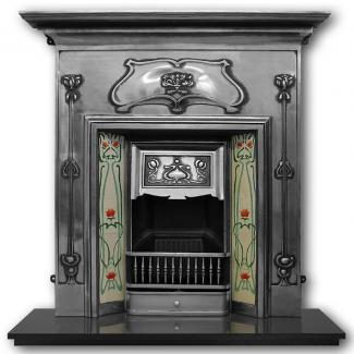The Verona Cast Iron Combination Fireplace - full polished