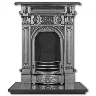 The Victorian ( Small ) Cast Iron Combination Fireplace - full polished
