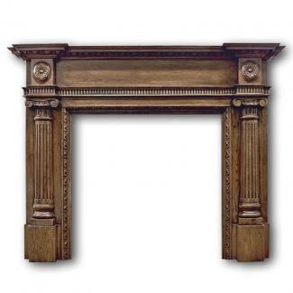 The Ashleigh Wooden Mantel in distressed oak