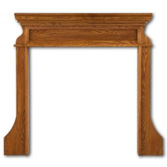 The Clive Wooden Mantel in Waxed Oak