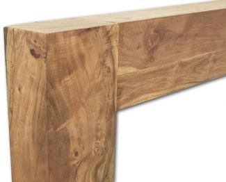 The Manhattan Wooden Mantel in Natural Solid Acacia frieze