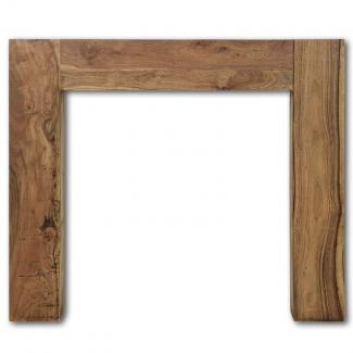 The Manhattan Wooden Mantel in Natural Solid Acacia