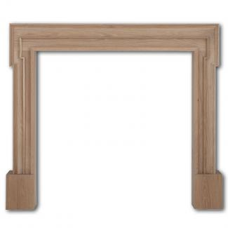 The Palladio Wooden Mantel unfinished oak