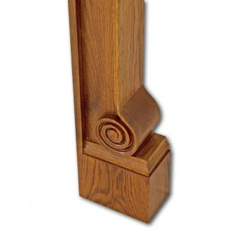 The Volute Wooden Mantel foot