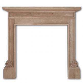 The Volute Wooden Mantel unwaxed oak