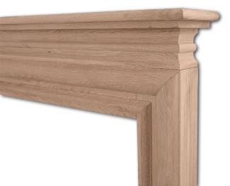 The Wessex Wooden Mantel -  Wide Opening - frieze