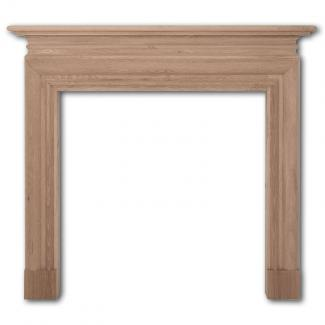 The Wessex Wooden Mantel -  Wide Opening