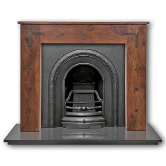 The Ce lux Arched Cast Iron Fireplace Insert - Black