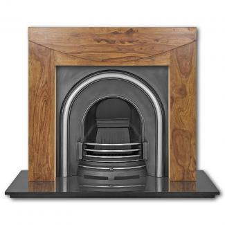The Celtic Arch Cast Iron Fireplace Insert highlighted