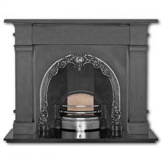 The Cherub Arched Cast Iron Fireplace Insert
