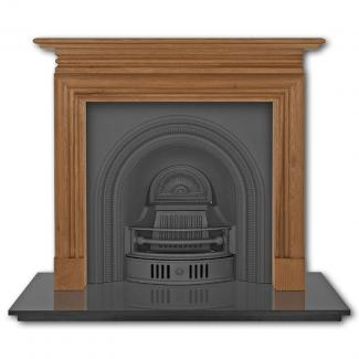 The Collingham Arched Cast Iron Fireplace Insert black
