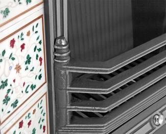 The Laurel Cast Iron Fireplace Insert bars