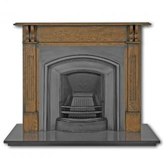 The London Plate Cast Iron Fireplace Insert black