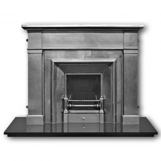The Royal Cast Iron Fireplace Insert Full Polished